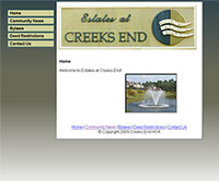 Creeks End Home Owners Association Website